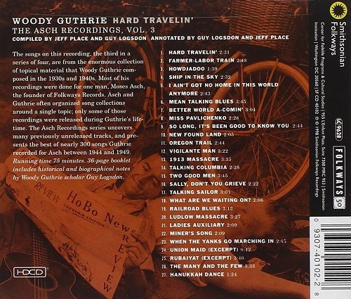 Woody Guthrie Hard Travelin The Asch Recordings Vol