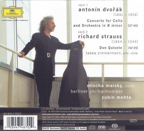 Mischa Maisky, Zubin Mehta - A.Dvořák: Cello Concerto, R.Strauss: Don Quixote (2004) [SACD]