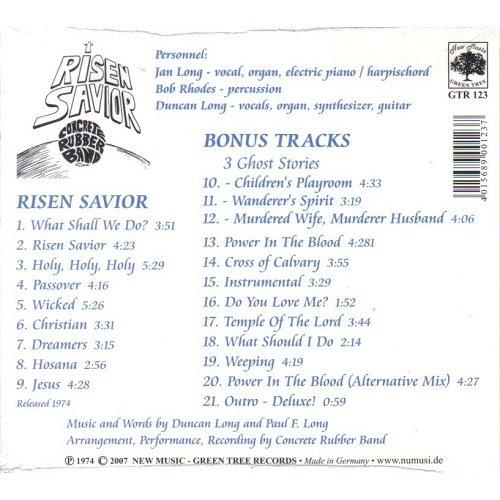Concrete Rubber Band Risen Savior Reissue Remastered